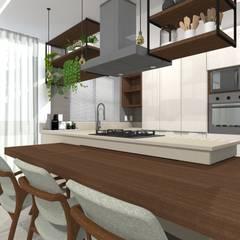 Petites cuisines de style  par Tatiane Dalberto Arquitetura, Scandinave