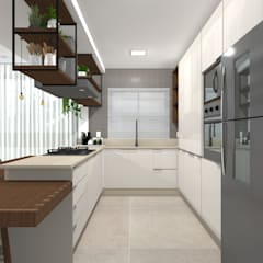 Kitchen units by Tatiane Dalberto Arquitetura