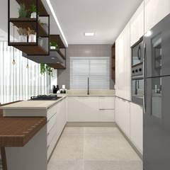 Muebles de cocinas de estilo  por Tatiane Dalberto Arquitetura