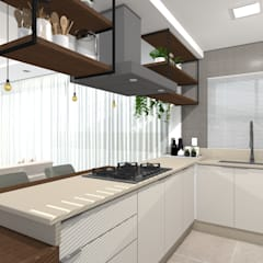 وحدات مطبخ تنفيذ Tatiane Dalberto Arquitetura