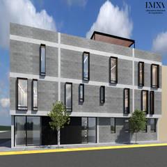 Fachada Principal: Condominios de estilo  por Laboratorio Mexicano de Arquitectura