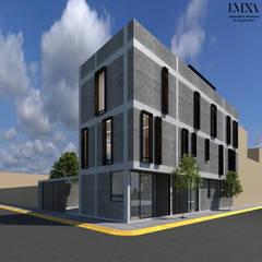 Fachada : Condominios de estilo  por Laboratorio Mexicano de Arquitectura