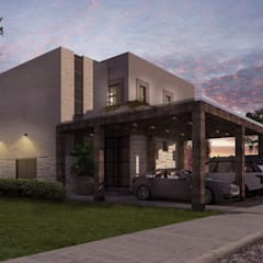 SAHAI UXAN: Casas unifamiliares de estilo  por Mouret Arquitectura