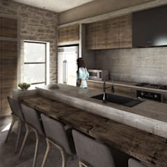 Built-in kitchens by Mouret Arquitectura, Rustic