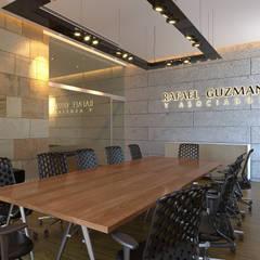 Sala de juntas: Oficinas y tiendas de estilo  por Laboratorio Mexicano de Arquitectura