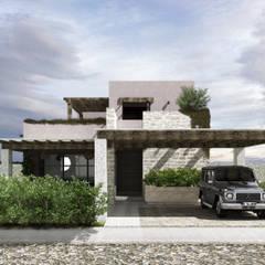 SAHAI ELIXIR: Casas unifamiliares de estilo  por Mouret Arquitectura