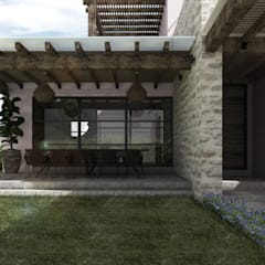 Terrace by Mouret Arquitectura,