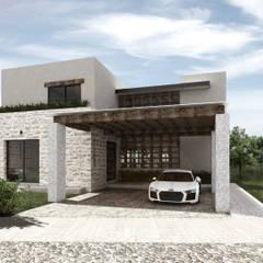 SAHAI UBAK: Casas unifamiliares de estilo  por Mouret Arquitectura