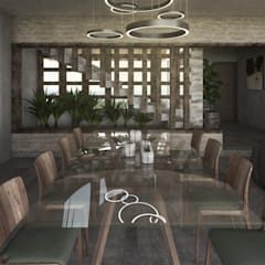 Rustic style dining room by Mouret Arquitectura Rustic