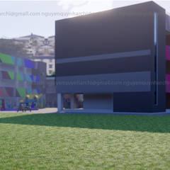 concept trường mầm non Tiền Giang:  Tòa nhà văn phòng by AcilB Design