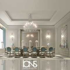 Dining Room Design in Classic French Style Interiors:  Dining room by IONS DESIGN