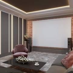 Интерьер коттеджа в Зинино: Медиа комнаты в . Автор – Студия авторского дизайна ASHE Home