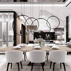 nowoczesne wnętrze jadalni: styl , w kategorii Jadalnia zaprojektowany przez ARTDESIGN architektura wnętrz