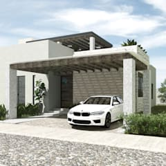 SAHAI UMA: Casas unifamiliares de estilo  por Mouret Arquitectura
