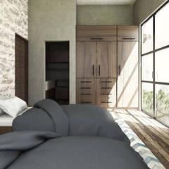 SAHAI UMA: Recámaras de estilo  por Mouret Arquitectura