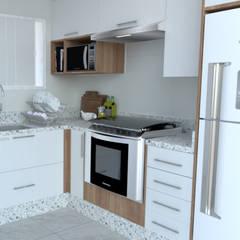Cucina piccola in stile  di MS Interiores