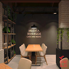 Mudita Riverside:  Restoran by Dwello Design