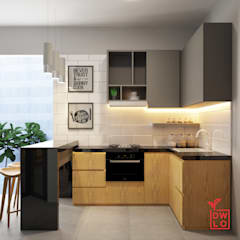 D&A House Cimanggis:  Dapur built in by Dwello Design