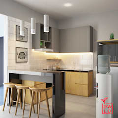 D&A House Cimanggis:  Dapur by Dwello Design