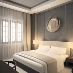 Sangkan Resort Aquapark: Kamar Tidur oleh Dwello Design, Modern Kayu Lapis
