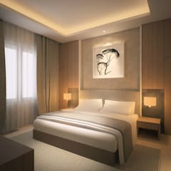 Sangkan Resort Aquapark Kamar Tidur Modern Oleh Dwello Design Modern Kayu Lapis