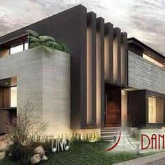 Diseño y construcción residencial: Casas unifamiliares de estilo  por Construcciones La Danta SA De CV