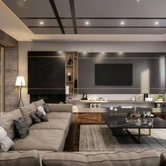 ANTE MİMARLIK  – Balıkesir Villa:  tarz Oturma Odası, Modern