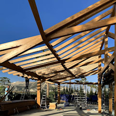 Lean-to roof by NavarrOlivier, Modern Wood Wood effect