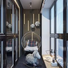 Balcony by Студия авторского дизайна ASHE Home