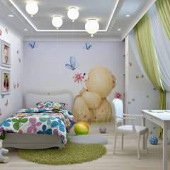 Habitaciones juveniles de estilo  por Дизайн интерьера в Калининграде. 4LifeDesignStudio