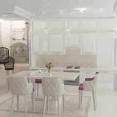 Проект квартиры, ул. Тельмана: Столовые комнаты в . Автор – Дизайн интерьера в Калининграде. 4LifeDesignStudio