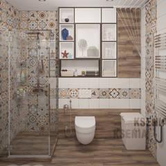 Квартира для девушки в Киеве: Ванные комнаты в . Автор – Ksenia Cherkashyna