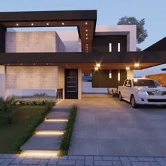 Nhà có sân thượng by Alessandro Ramos Arquitetura