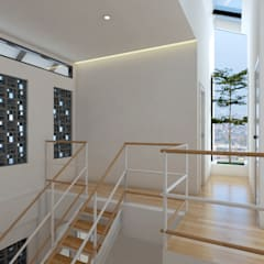 Corridor & hallway by Abil Architect
