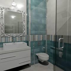 Проект трехэтажного таунхауса в Калининграде: Ванные комнаты в . Автор – Дизайн интерьера в Калининграде. 4LifeDesignStudio