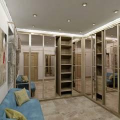 Проект трехэтажного таунхауса в Калининграде: Гардеробные в . Автор – Дизайн интерьера в Калининграде. 4LifeDesignStudio