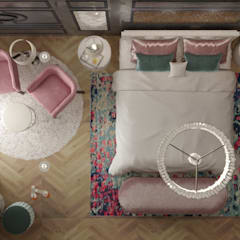 تصميم غرفة نوم رئيسية من AmiraNayelDesigns كلاسيكي