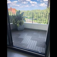 """Silver"" Grey 2x1' Balcony Flooring Tiles in Mississauga:  Balcony by Outdoor Floors Toronto,"