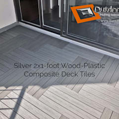 """Silver"" Grey 2x1' Balcony Flooring Tiles in Mississauga:  Balcony by Outdoor Floors Toronto"
