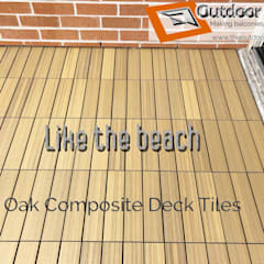 Oak WPC Balcony in Toronto:  Balcony by Outdoor Floors Toronto,