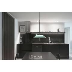 간살디자인 슬라이딩도어: WITHJIS(위드지스)의  다이닝 룸