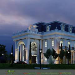Villas de estilo  por Công ty TNHH Thiết kế và Ứng dụng QBEST