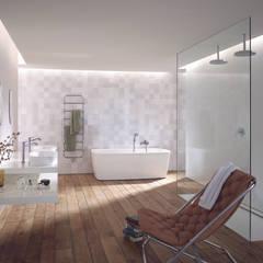 Badplanung Classic, Materialkonzept, Farbkonzept, Lichtkonzept, Einrichtung, Styling:  Badezimmer von OXIT GmbH