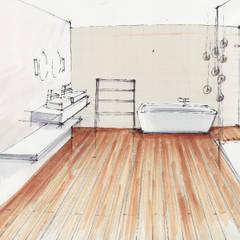 Planung Skizze, Vorher-Nachher:  Badezimmer von OXIT GmbH