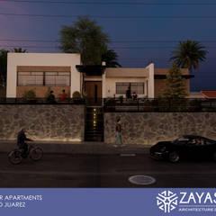 Fachada nocturna: Condominios de estilo  por Zayas Group