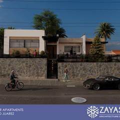 Fachada diurna: Condominios de estilo  por Zayas Group