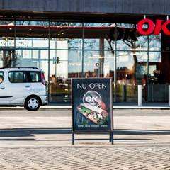 Benzinestation & restaurant OK in Emmen:  Muren door Bureau Ha Architecten