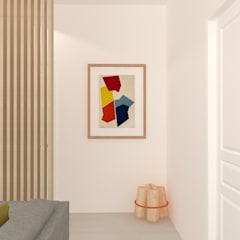 Villa Saint-Pancrace B_Nice: Couloir et hall d'entrée de style  par Marty Déco