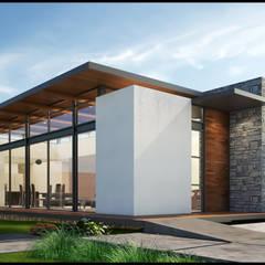 Fachada Principal: Casas de campo de estilo  por Geometrica Arquitectura