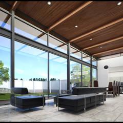 Interior Sala Comedor: Casas de campo de estilo  por Geometrica Arquitectura